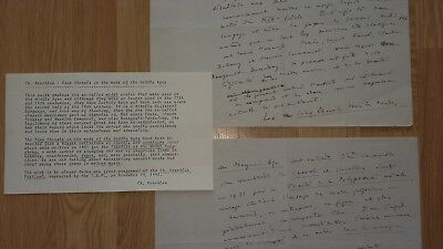 CHARLES KOECHLIN - Composer - Autograph Draft re -  Modal Scales / Music - 1932