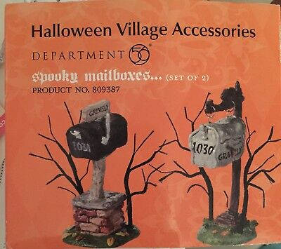 Department 56 Halloween Village Accessories Spooky Mailboxes (Set Of 2) #809397