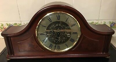 Hermle Acton Mechanical Mantel Clock - Mahogany Table Clock - Westminster Chime