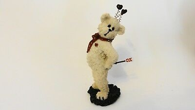 Boyds Bear Bearstone Love Valentines day catch your heart resin cupid gift