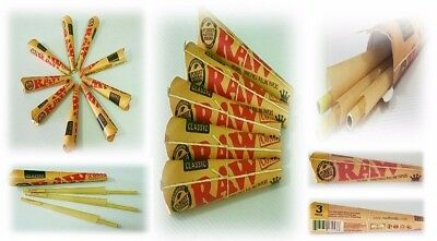 Raw Cones King Size Pre Rolled Natural Classic Paper with Filter Authentic 5 pcs