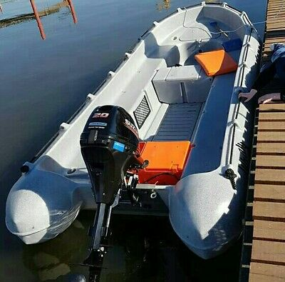 Whaly boot 435   PE mit Motor 20 Ps und Trailer