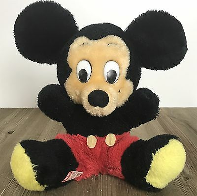 Vintage Dakin Disney Mickey Mouse Plush Toy No Hands Nutshells Korea 9""