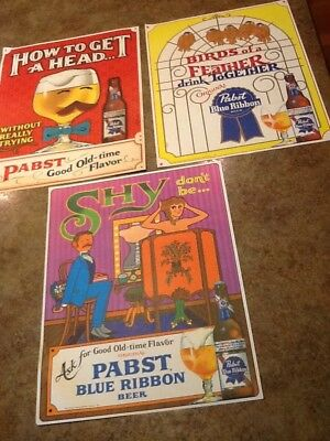 vintage pabst blue ribbon sign-3 Beer Signs-must See