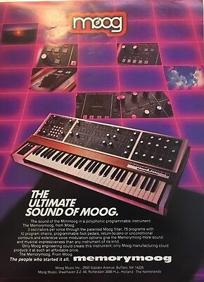 "1982 MOOG print ad original full page measuring 8 1/4"" by 11"""