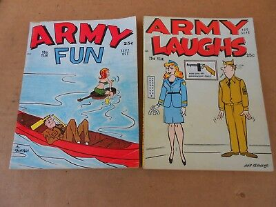 Army Laughs Aug - Sept 1961 & Army Fun Sept - Oct 1961