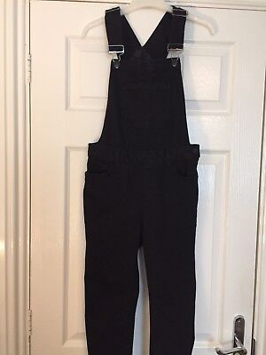 Black Denim Dungarees Age 14