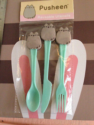 Pusheen Fork Knife Spoon Set Spring 2017 Subscription Box Exclusive Item