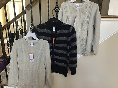 NWT Lot Of 3 Boys Sweaters From Gymboree Sz 7-8 Retail $110.85