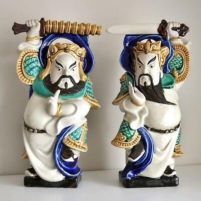 "Large Chinese/Japanese Warrior Figures 13"" Tall"