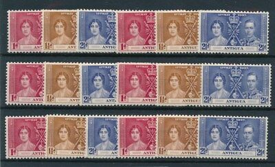[83923] Antigua 1937 6x good sets Very Fine MNH stamps