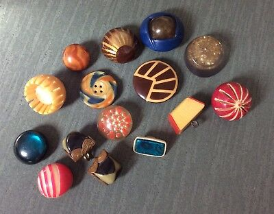 Variety Of 15 Small Celluloids, Tight Tops, Glows, Carved, Etc.