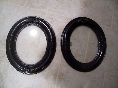 Pair of Antique Black Wood Victorian Frames Gesso Decorative Picture Fits 8x10