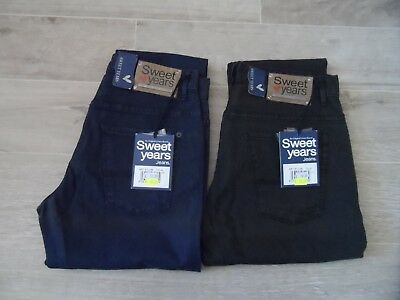Jeans Uomo Nero Blu Elasticizzato Regular Fit 43 44 45 46 47 Sweet Years e589586f7ea