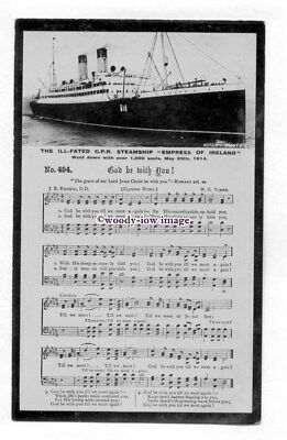 pf6707 - Canadian Pacific Liner - Empress of Ireland , built 1906 - postcard