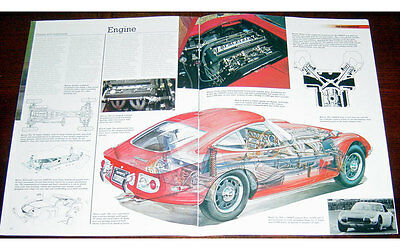 Toyota 2000GT Fold-out Poster + Cutaway drawing
