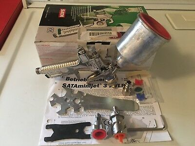 SATA MINI JET 3 SPRAY GUN & Steel Cup and Lid (USED - PERFECT WORKING CONDITION)