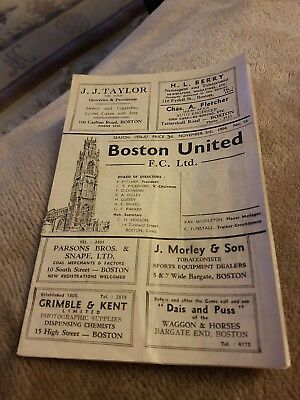 Boston United v Grantham Town FA Cup 1956