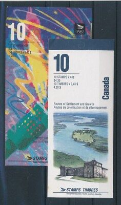 [G82354] Canada 2 good complete booklets Very Fine MNH