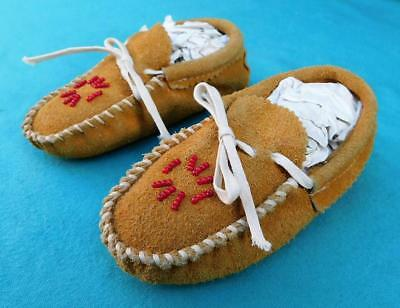 Native American Indian Child's Beaded Moccasins