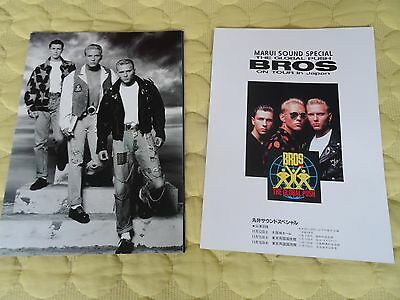 Bros The Global Push World Tour Japanese Tour Programme With Japanese Flyer Rare
