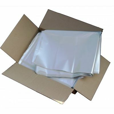 "600 LARGE CLEAR REFUSE SACKS. BIN RUBBISH WASTE BAGS 45X73X99cm 18""X29""X39"""