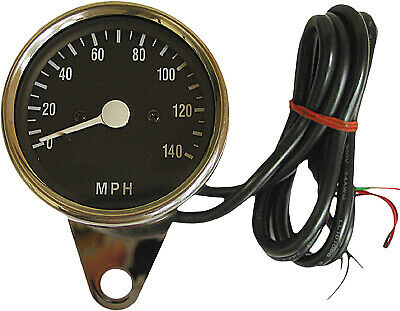 HARDDRIVE 21-6885 Mini Electronic Speedometer Black Face w/LED Lights