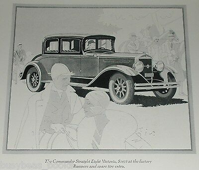 1929 STUDEBAKER COMMANDER advertisement, Commander Eight Victoria, Art Deco