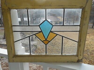 P-101 Lovely Older Leaded Stained Glass Window From England