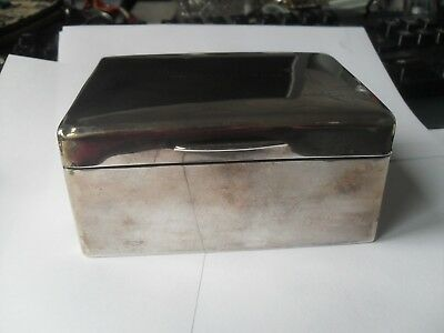 Sterling Silver Hallmarked Cigarette or Jewellery Box 1920