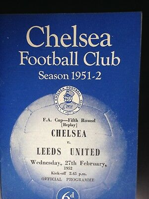 1951/2 Chelsea V Leeds United (Fac 5 Replay)