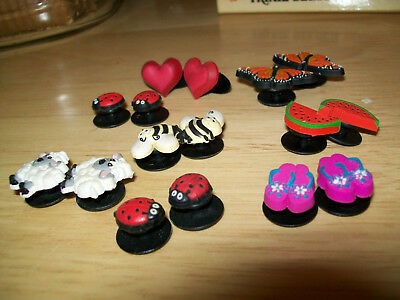 Shoe Charms For Crocs - 7 pairs ,hearts ,lady bugs ,etc.