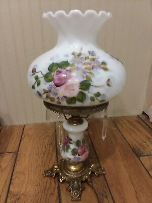 Vintage Gone With The Wind Hurricane Parlor Lamp