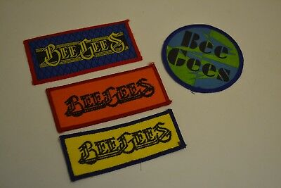Bee Gees 1970s cloth badges x 4