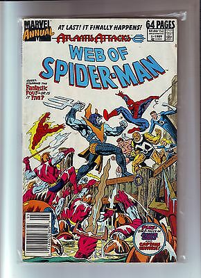 Web of Spider-Man # 5 Annual 1989 by Marvel comic 64 pages