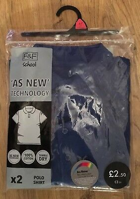 Bnwt Florence And Fred Age 6-7 Years Royal Blue School Shirts