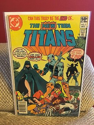 The New Teen Titans 2 (Dec 1980, DC) key issue first appearance Deathstroke