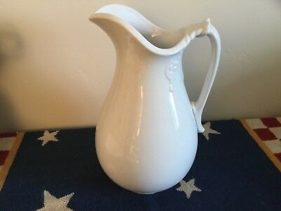 Vintage Large Imperial Ironstone China Pitcher Cockson & Sedoon