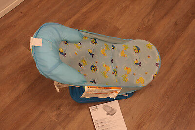 Summer Infant Deluxe Baby Bather, blue, in very good condition