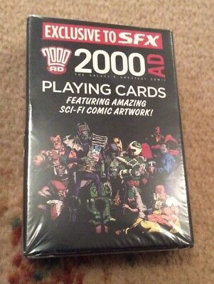 2000 AD Playing Cards Judge Dredd Strontium Dog Ro-busters - New In Sealed Pack