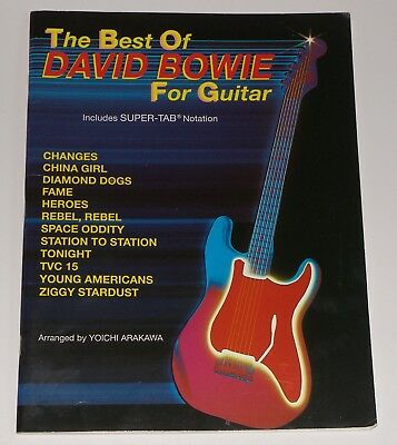 David Bowie Guitar Tab Song Book The Best Of  ISBN D 897240537