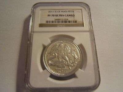 2011 Isle of Man 1 oz proof palladium Angel NGC PF70 Ultra Cameo