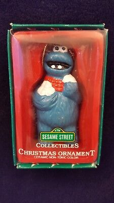 Vintage Sesame Street Collectible Ornament * COOKIE MONSTER * FREE SHIPPING
