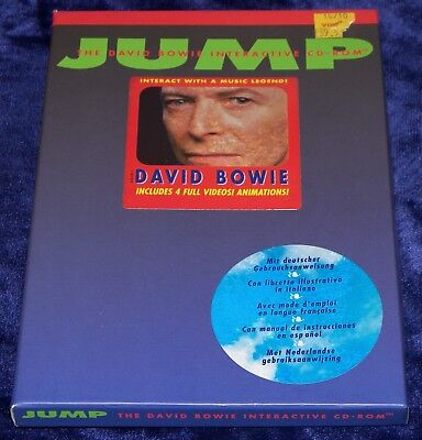 David Bowie Jump Interactive CD Rom Poster 4 Videos + Animations Mac Only not PC