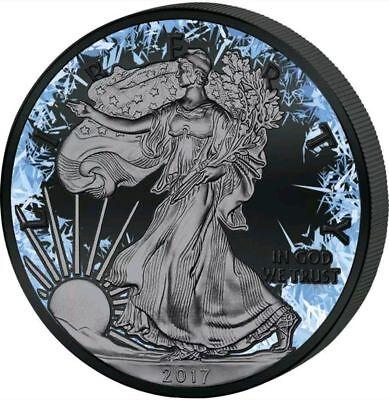 2017 1 oz .999 fine silver Deep Frozen Walking Liberty Coin