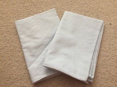 Baby Blue Organic Cotton Baby Pillow Cases X 2