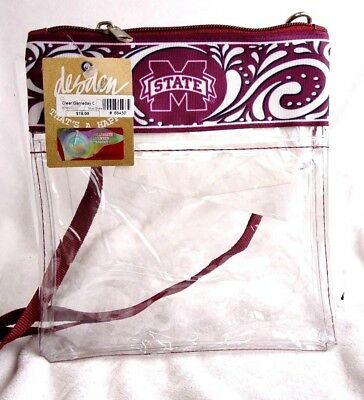 Clear Gameday Cross Body See-Thru Mississippi St. Concert Transparent Messg Bag