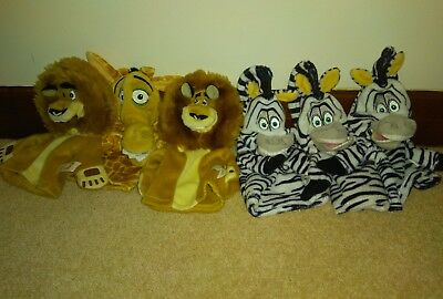 6 Persil Madagascar Hand Puppets