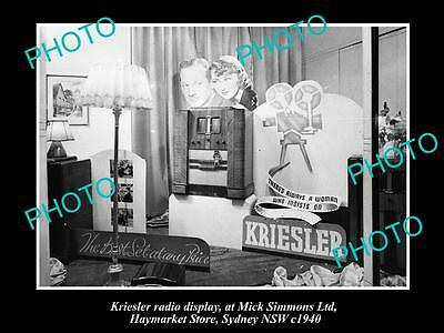 OLD LARGE HISTORIC PHOTO OF THE KRIESLER RADIO SHOP DISPLAY, SYDNEY NSW c1930s 3