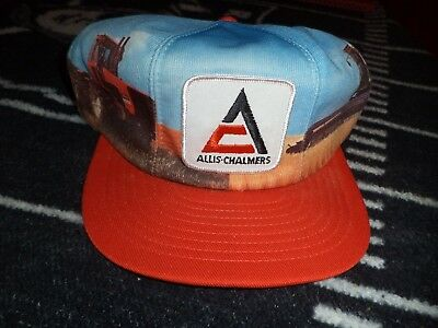 nos allis chalmers hat from 1978 with tractor and combine nice original